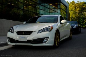 Hyundai Genesis Coupe and Nissan 370Z by ThirdGearPhotography