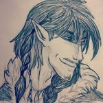 A wolven smirk by TheSharkGirl