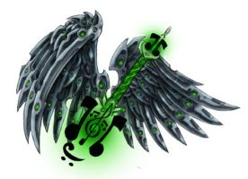 Celtic Guitar, and Mech Wings by LeviSmithArt