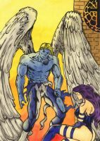 Archangel and Psylocke I by valraven