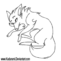 Wolf Free-use Line-art by Kadarami