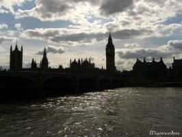 Silhouetted Westminster by missionverdana