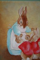 Beatrix Potter Mural bunnies by Anvikit