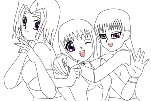 Femi, Britt and Umi lineart by QueenBrittStalin