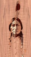 Sitting Bull marquetry by FauxHead