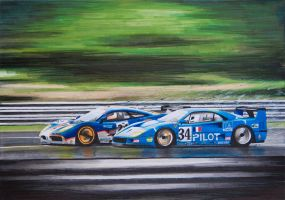 F1 GTR vs F40 LM by scrim23