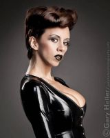 Kerri Taylor Black Latex Headshot by modelkerritaylor