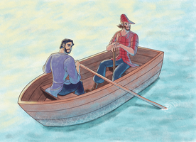Paul Bunyan/ Babe the Blue Ox - Row Boat by Trinityinyang