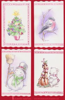 Christmas Cards by TheLittleBunnyfly