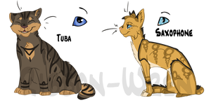 Instrument Cats Batch #1 by Ribbon-Wren