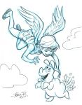 Ellie the Angel loves Nimbus by tombancroft