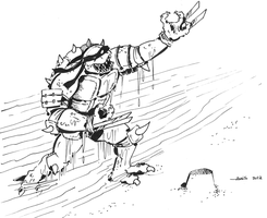 Slash, the evil Mutant Tutle from Dimension X. by Boltax