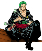 Zoro lineart colored by 4mbryo