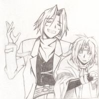 Aion and Chrno by sioAoi