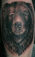 grizzly bear tattoo by Remistattoo
