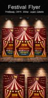 Circus Carnival Psd Flyer Template by Designhub719