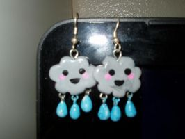 Rain Cloud earrings by KittyAzura