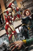 FCBD Iron Man and Black Widow by JwichmanN