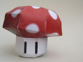 Mario Mushroom papercraft by may7733