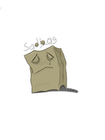 Sad bag by ldjessee