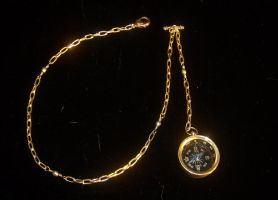 Steampunk Compass Watch Chain by lilibat