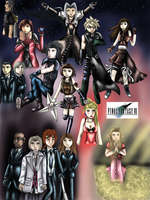 Final Fantasy VII Poster by WhiteMageOfTermina