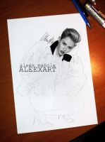 Miley Cyrus Pretty Girl WIP by aleexart