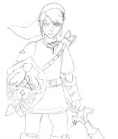 First attempt at Link from Legend of Zelda by tigernose123