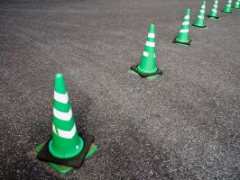Green Cones in Tokyo by SuperPope