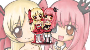 Chibi Victoria and Exie contest ^^ by Lucia-95RduS