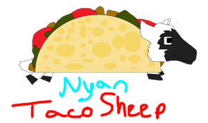 NYAN TACO SHEEP Gift for ohiabby by xXlove-killerXx