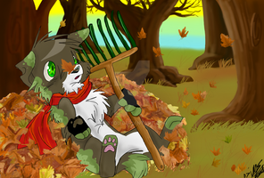 fursona calendar:november by Aibyou