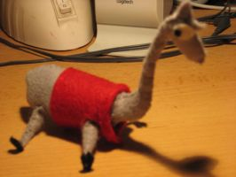 Felt lama by PsychedelicOctopuss