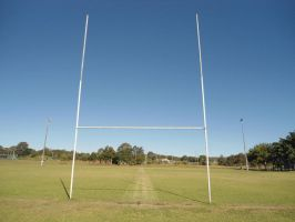 field goal post stock by avenueimage