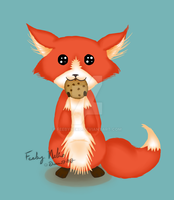 Foxy Has A Cookie by FeebyNeko