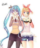 Miku y rin by me by ForeverDream97