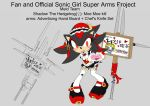 SonicSuperArmsProject  Shadow Female(DesignTest) by skyshek