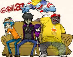 Gorillaz- Family Portrait by MiyomotheCat