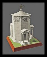 Tower of the Winds Paper Model by Tektonten