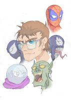 spidy characters faces by alessandelpho