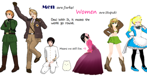 [MMD][APH] Men and Women by ItalianInNaziTrainin