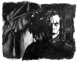 Brandon Lee as The Crow by T-Thomas