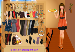 Thanksgiving dinner dressup game by willbeyou