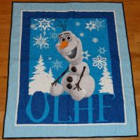 Olaf Panel Quilt by quiltoni