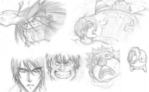 Eyeshield21 in-class sketches by kriffix