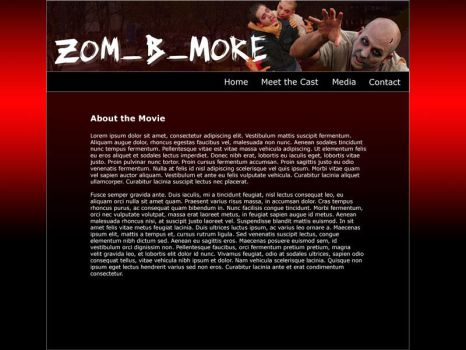 Zom-B-More Website by kirasepith