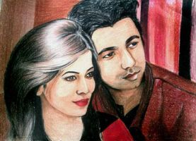Apurbo and his wife(commision work) by taiararaiat