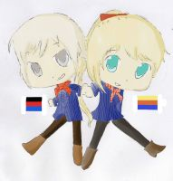 North Frisia and East Frisia my APH charas by Meloni-chan
