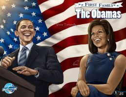The Obamas, First Family by VinRoc