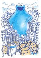 Monster in the city by fathi-dhia